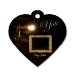 I Heart You Moon heart dog tag - Dog Tag Heart (One Side)