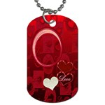 I Heart You red dog tag - Dog Tag (One Side)