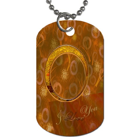 I Heart You Gold Dog Tag By Ellan   Dog Tag (one Side)   Mgnm71kccpif   Www Artscow Com Front