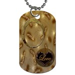 Love tan dog tag - Dog Tag (One Side)