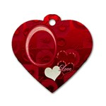 I Heart You red heart dog tag - Dog Tag Heart (One Side)