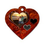 The Best orange heart dog tag - Dog Tag Heart (One Side)