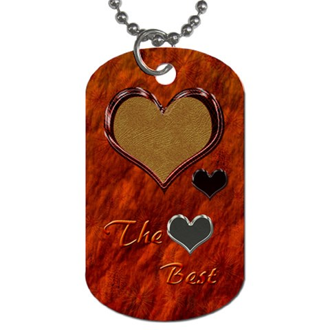 The Best Dog Tag By Ellan   Dog Tag (one Side)   Nebfzz0j04bj   Www Artscow Com Front