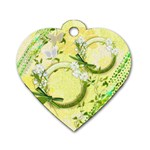 Easter flower floral yellow dog tag - Dog Tag Heart (One Side)