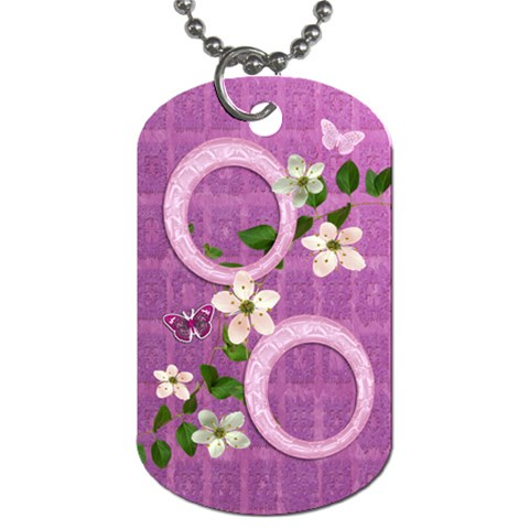 Spring Flower Floral Purple Dog Tag By Ellan   Dog Tag (one Side)   8e090nfk0ki6   Www Artscow Com Front