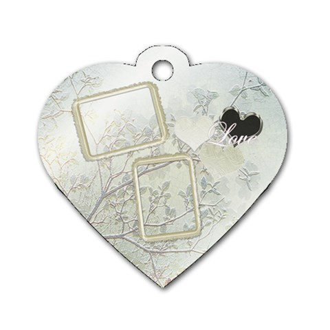 Love White Heart Dog Tag By Ellan   Dog Tag Heart (one Side)   Gen1c4yr3mr6   Www Artscow Com Front
