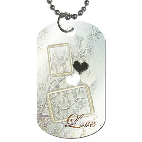 Wedding White Heart Love Dog Tag By Ellan   Dog Tag (one Side)   8uh0y65ull45   Www Artscow Com Front