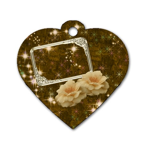 Rose Gold2 Heart Dog Tag By Ellan   Dog Tag Heart (one Side)   9be3kpy6bbfl   Www Artscow Com Front
