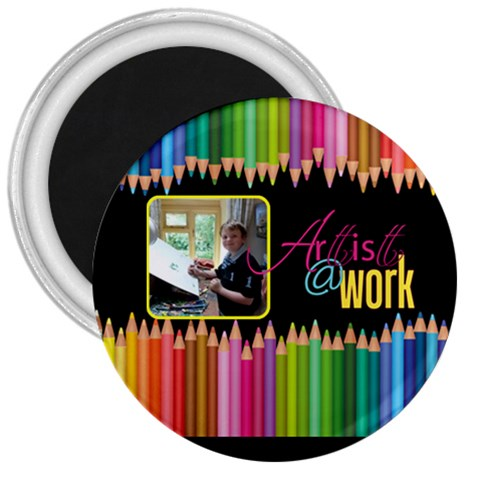 Artist   Work 3 Inch Magnet By Catvinnat   3  Magnet   Ob8apwpc6h24   Www Artscow Com Front