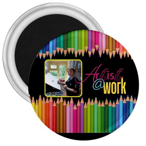 Artist   Work 3 Inch Magnet By Catvinnat   3  Magnet   Ob8apwpc6h24   Www Artscow Com Front