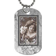 Love You Double Sided Dog Tag By Catvinnat   Dog Tag (two Sides)   R90ajfj36uqc   Www Artscow Com Back