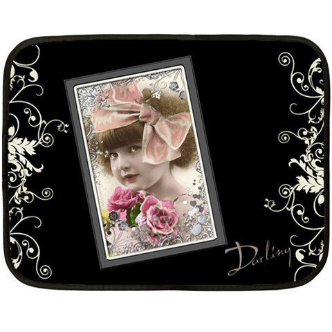 Darling Mini Fleece By Catvinnat   Fleece Blanket (mini)   2cptv8o6ar73   Www Artscow Com 35 x27 Blanket