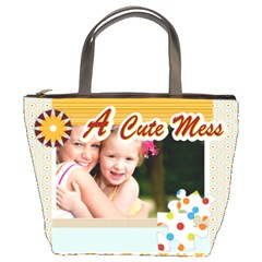 A Cute Mess By Joely   Bucket Bag   Ml6s17fq2y85   Www Artscow Com Front