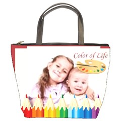 Color Kids By Wood Johnson   Bucket Bag   88yh22on3eqg   Www Artscow Com Front