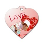 love - Dog Tag Heart (One Side)