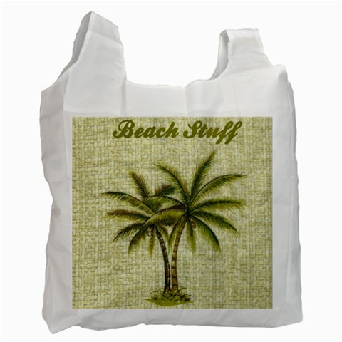 Beach Stuff Recycle Bag By Eleanor Norsworthy   Recycle Bag (one Side)   4etwzka7r8f1   Www Artscow Com Front