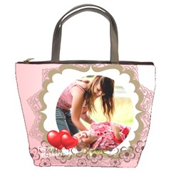 Happy Mothers Day By Joely   Bucket Bag   Vnslrid5z9n2   Www Artscow Com Front