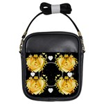 yellow rose  shoulder purse - Girls Sling Bag