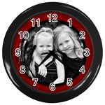 Wheat Frame Clock - Wall Clock (Black)