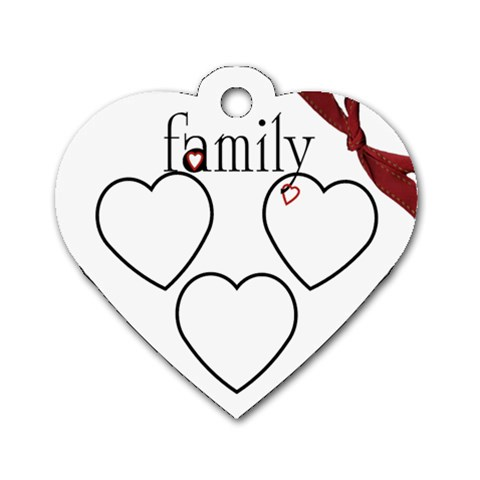 Family Heart Tag By Amanda Bunn   Dog Tag Heart (one Side)   Wy20in14mvic   Www Artscow Com Front