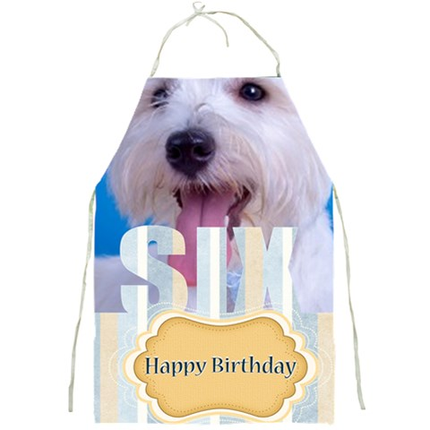 Happy Pets By Joely   Full Print Apron   1rfu3p7qwvgu   Www Artscow Com Front