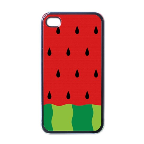 Fruit  By Clince   Apple Iphone 4 Case (black)   Rp5n0j0372vy   Www Artscow Com Front
