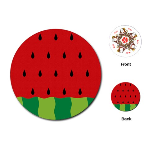 Fruit  By Clince   Playing Cards (round)   12n6zfi6fmx7   Www Artscow Com Front