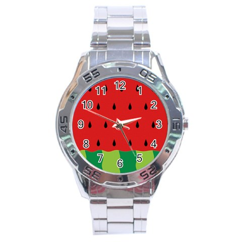 Fruit  By Clince   Stainless Steel Analogue Watch   5umivzoxtb0c   Www Artscow Com Front