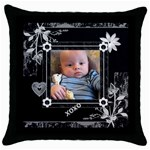 Beautiful Black Love Throw Pillow Case - Throw Pillow Case (Black)