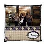 Family Royal Silhouette Cushion Cover - Cushion Case (Two Sides)