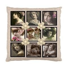 Antique neutral multiframe double side cushion by Catvinnat Front