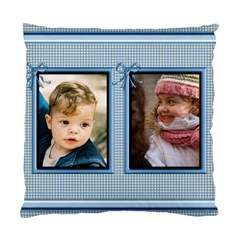 Pretty Blue Cushion (2 Sided) By Deborah   Standard Cushion Case (two Sides)   Ip61uzay0yax   Www Artscow Com Back