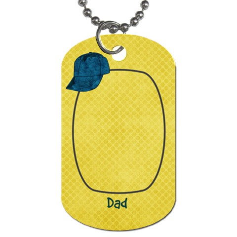 Dad Tag02 By Bitsoscrap   Dog Tag (one Side)   Jrru3lzzm0b8   Www Artscow Com Front