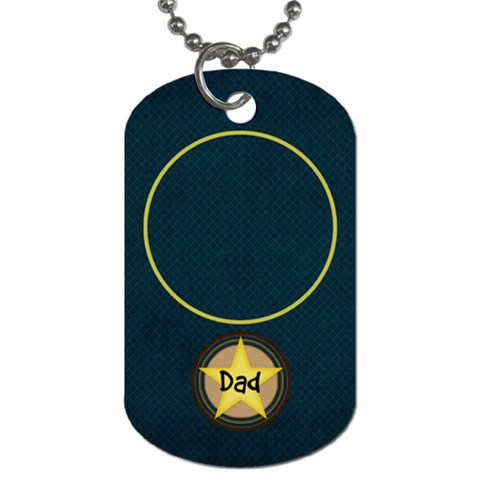 Dad Tag03 By Bitsoscrap   Dog Tag (one Side)   C3tmtlnvwpu3   Www Artscow Com Front