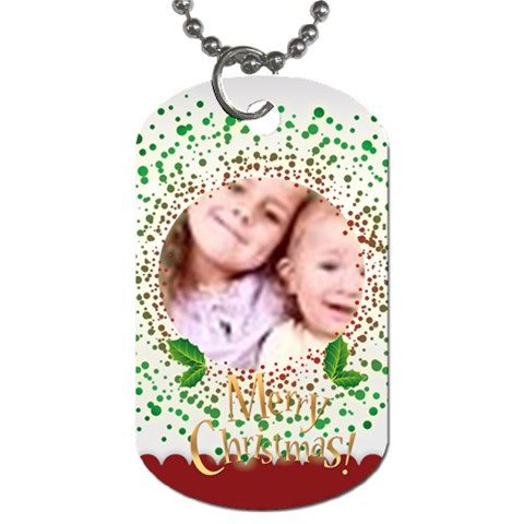 Merry Christmas By Wood Johnson   Dog Tag (one Side)   21514oprq927   Www Artscow Com Front