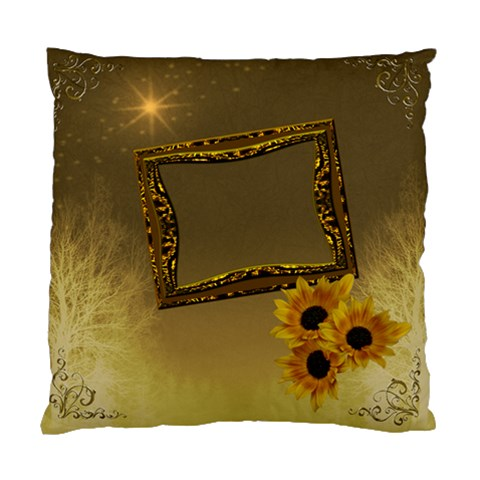 Gold Sunflower Cushion Case By Ellan   Standard Cushion Case (one Side)   L48lv7wliest   Www Artscow Com Front