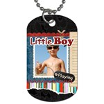 little boy - Dog Tag (One Side)
