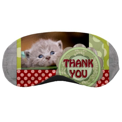 Thank You By Joely   Sleeping Mask   N0bx902vfd8s   Www Artscow Com Front