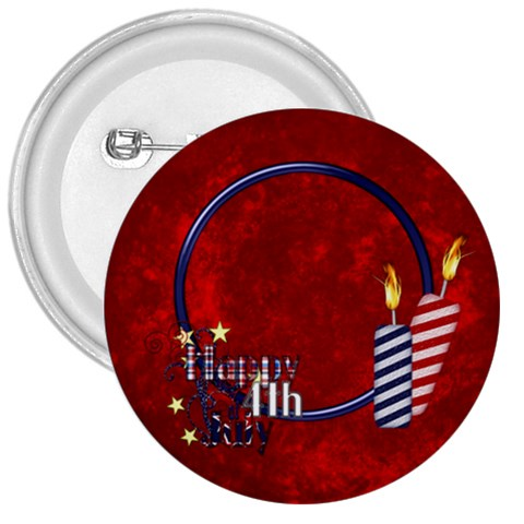 My Country Button 1 By Lisa Minor   3  Button   E77gf8jg6nud   Www Artscow Com Front