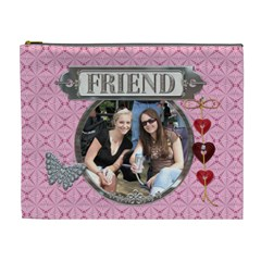 My Friend Xl Cosmetic Bag By Lil    Cosmetic Bag (xl)   484zpte9956h   Www Artscow Com Front