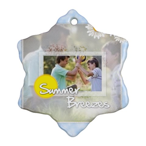 Happy Summer By Joely   Ornament (snowflake)   61qxiygri9ac   Www Artscow Com Front