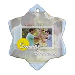 happy summer - Ornament (Snowflake)