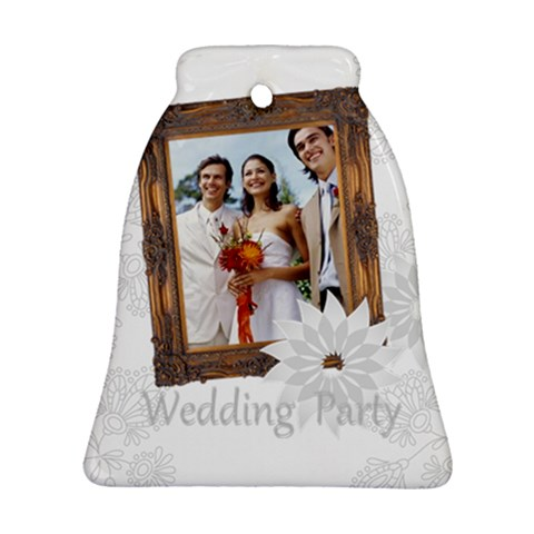Wedding Party By Joely   Ornament (bell)   0hmyusw44t1f   Www Artscow Com Front