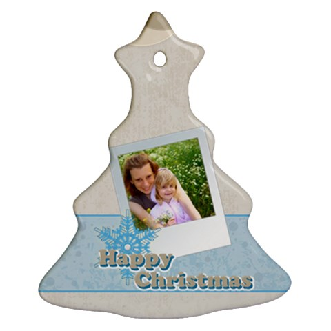 Merry Christmas By Joely   Ornament (christmas Tree)    V3ajbba87p9x   Www Artscow Com Front