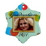 Graduation ornament (gift tag) - Ornament (Snowflake)