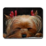 Sleeping Yorkie Painting Scan 300dpi Retouched Copy Small Mousepad