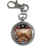 Sleeping Yorkie Painting Scan 300dpi Retouched Copy Key Chain Watch