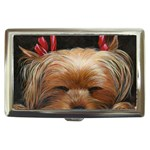 Sleeping Yorkie Painting Scan 300dpi Retouched Copy Cigarette Money Case