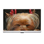 Sleeping Yorkie Painting Scan 300dpi Retouched Copy Business Card Holder