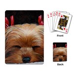 Sleeping Yorkie Painting Scan 300dpi Retouched Copy Playing Cards Single Design